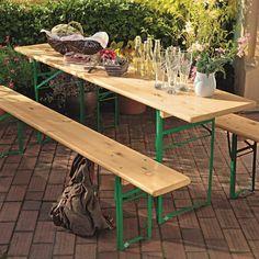 Bauhaus, Outdoor Furniture, Outdoor Decor, Table, Home Decor, Natural Brown, Outdoor Camping, Beer, Get Tan