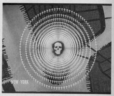 """This arresting image is a still from an extraordinary and scary  1946 film """"One World or None"""" (published by the  National Committee on  Atomic Information and located  at the Prelinger Archive"""