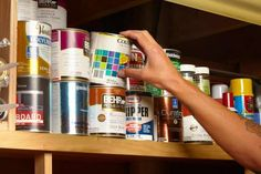 Which paint can contains the gold?      Next time you use up a can of paint, save the empty can and fill it up with valuables. Then put it back on the shelf with all your other cans.