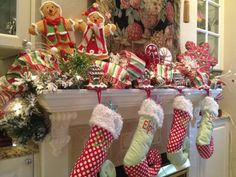gingerbread christmas mantel - Google Search