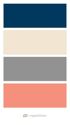 Navy, Champagne, Classic Gray, and Coral Wedding Color Palette - custom color palette created at MagnetStreet.com
