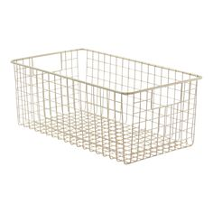 Tall Satin Classico 9 x 16 Wire Basket Wire Basket Storage, Wire Storage, Wire Baskets, Wine Shelves, Shelving, Organizing Your Home, Storage Containers, Wine Rack, Household