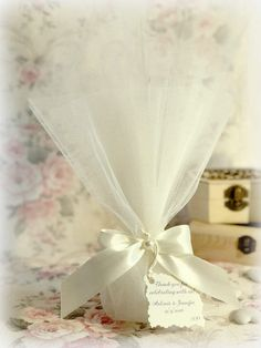 by RaniaCreations on Etsy Wedding Shower Favors, Wedding Favor Bags, Wedding Gifts, Motivation Tumblr, Orthodox Wedding, Wedding Wraps, Greek Wedding, Crafts Beautiful, Applique Wedding Dress