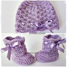 Crochet baby set, Purple baby set, Crochet hat, Crochet booties, Baby Girl's set, Violet baby set, Newborn set hat and boots, Knit set Crochet Baby Boots, Hat Crochet, Booties Crochet, Etsy Handmade, Handmade Design, Handmade Gifts, Purple Baby, Baby Set, Baby Girl Gifts
