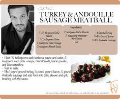 Turkey & Andouille Sausage Meatball #Thanksgiving