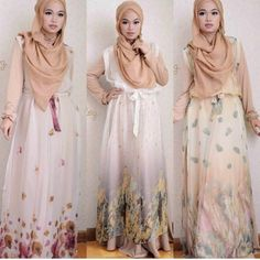 hijab fashion -hijab style inspiration-Beatiffuull dresses <3