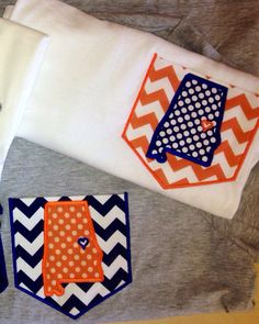 Auburn Love State Pocket Long Sleeve Shirt by InitialConceptsbyLuC, $24.00