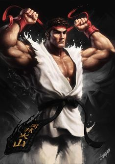 "pixalry: ""Ryu - Created by Renato Giacomini Part of the Street Fighter Collab BR project, where Brazilian artists come together to add their own unique style to the collection of great artwork based on the game. Ryu Street Fighter, Sakura Street Fighter, Gi Joe, Street Fighter Wallpaper, Samurai, Street Fighter Characters, World Of Warriors, Arte Dc Comics, Creation Art"