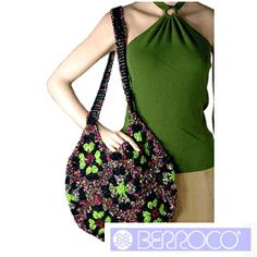 """Mika"" Crocheted Ladies' Bag Pattern by Berroco - FREE Crochet Pattern - Planet Purl"