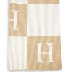 Colorblock Initials Blanket
