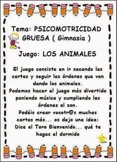 psicomotricidad gruesa juego de los animales (1)                                                                                                                                                                                 Más