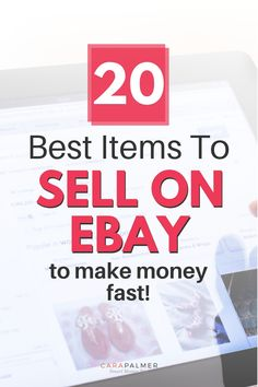 Here's a list of the 20 best items to sell on eBay to make money fast. We'll show you tips to sell your items fast on eBay. Learn how to get started selling on eBay and where to find items to sell. Money Making Websites, Make Money Blogging, Money Tips, Make Money Online, Saving Money, Managing Money, Sell Used Stuff Online, Sell Stuff, Make Money Fast
