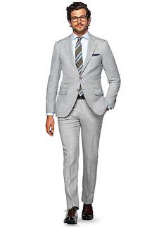 Suit Light Grey Plain La Spalla P4874i | Suitsupply Online Store