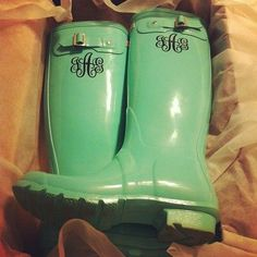"""monogram hunters - the rain is coming soon..."" Thanks Josie for showing me these! I love them!"