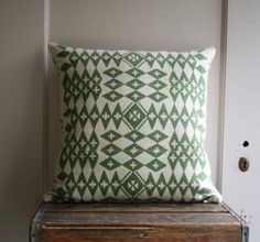 Another amazing pillow cover from vintage Pendleton wool (Littlebyrd).