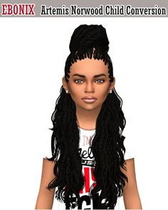 Sims 4 CC's - The Best: Norwood Hair Converted for Girls by Simblr in Lond...