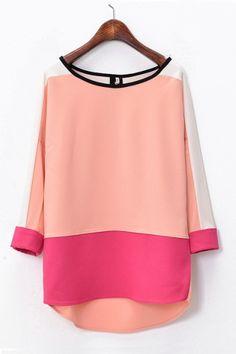 macchina #womens #fashion #clothing #style #pink #coral #blouse #shirt #elegant