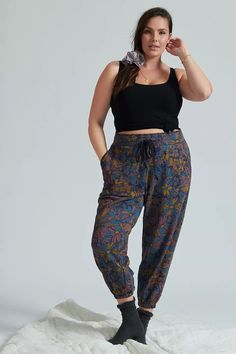 Easygoing and chic, these so-soft joggers are a pair you'll want to wear on repeat. (This post contains affiliate links.) On Repeat, Saturday Sunday, Deep Teal, 50 Fashion, Camilla, Dress Brands, Plus Size Outfits, Anthropologie, Joggers