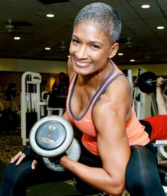 Arms of a 50 year old.and it's not hard to achieve. Women's fitness routines can get you pumped. Black Fitness, Body Fitness, Physical Fitness, Fitness Tips, Fitness Models, Fitness Routines, Female Fitness, Fit Black Women, Fit Women