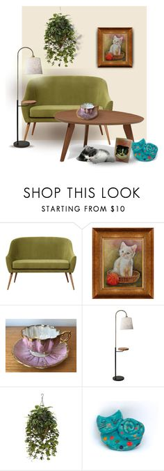 Cat Portrait By Canisartstudio Liked On Polyvore Featuring Interior Interiors