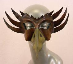 Bird Demon Leather Mask