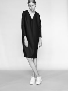 This minimalistic collection is designed by Poland based fashion label NON. The pieces are all very beautiful and elegant. The designs are based on classic geometry and every piece is made of a fine and best 100% Merino wool fabric. So besides the visual aspect, it also feels comfortable and