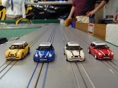 The Italian Job 2003 Mini Cooper   SLOT CARS!!!!!!!!  I grew up with them!   :)  :)  :)