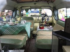 1959 Bedford Dormobile, YOF 341 (Interior View) by vg92, via Flickr