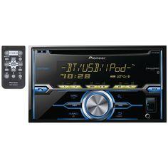 Double-DIN In-Dash CD Receiver with Bluetooth(R), SiriusXM(R) Ready,Siri(R) Eyes Free, USB, Android(TM) Music Support & Pandora(R) Internet Radio - PIONEER - FH-X820BS