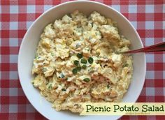 This potato salad is heavy on the hard boiled egg - and topped with a fantastic dressing using dill pickles! What's a picnic without potato salad?