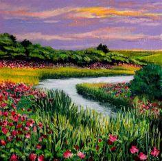 """A Pretty Corner of Nantucket"" - Original Fine Art for Sale - © Jill Bates"
