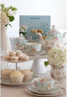 It would be fun to have a grown up tea party. bridal shower tea time
