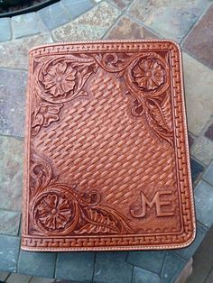 kindle Fire tooled leather tablet case by FeatherRiverLeather, $135.00