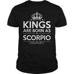 Cool HAPPY BIRTHDAY  KINGS ARE BORN AS SCORPIO Shirts & Tees
