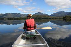Here I am paddling at Elk Lake, NY