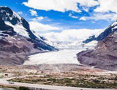 Le glacier Athabasca vu depuis la Promenade des Glaciers