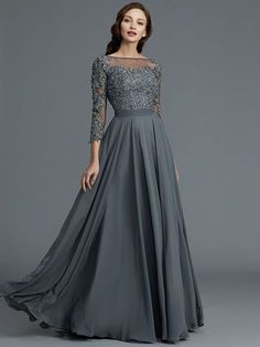 A-Line/Princess Sleeves Bateau Floor-Length Chiffon Mother of the Bride Dres. - A-Line/Princess Sleeves Bateau Floor-Length Chiffon Mother of the Bride Dresses Source by Yadiymike - Indian Gowns Dresses, Indian Fashion Dresses, Evening Dresses, Fashion Outfits, Long Gown Dress, Mom Dress, Chiffon Dress Long, Bridesmaid Dresses With Sleeves, Bride Dresses