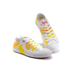 sneakers for cheap 5924e fade5 Converse Chuck Taylor All Star Orange Paint Shoes Men Low Top Tracing  Canvas Painted Shoes,