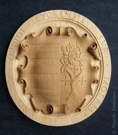 City of MAASEIK HERALDIC SHIELD | Carved Shield in Wood