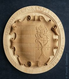 City of MAASEIK HERALDIC SHIELD | Carved Shield in Wood