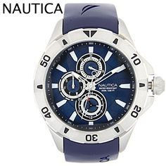 Nautica Multifunction Navy Blue Resin Mens Watch