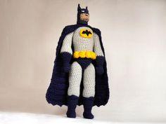 Batman CROCHET patrón / patrón de amigurumi Batman / tutorial para la muñeca del Batman / amigurumi diseño de superhéroe cómico / regalo para los niños