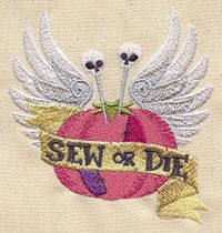 Sew or Die design (UT3082) from UrbanThreads.com