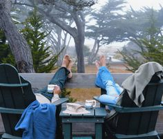 The beautiful trees through the fog at Asilomar State Beach Conference Grounds  Pacific Grove, California