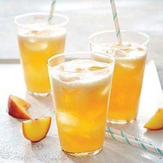 Bourbon-Peach Limeade Recipe from Cooking Light Refreshing Summer Cocktails, Summer Drinks, Fun Drinks, Summer Food, Alcoholic Drinks, Peach Sangria, Peach Salsa, Limeade Recipe, Cooking Light Recipes