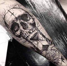 60+ Black and Grey Skull Tattoos