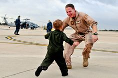 Service member and child