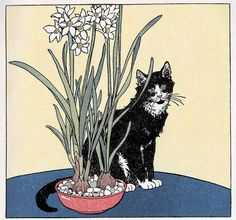 "I am Jack's cat, Frolic (illustration by Marguerite Davis, c. 1930, for ""Frolic and Do-Funny"")"