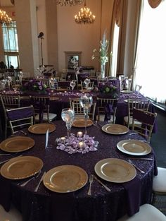 $70/each   I Have 5 ,120 Inches, Round Purple (Plum/. Sequin  TableclothTableclothsRecycle ...