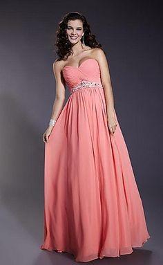 Sleeveless empire A-line chiffon strapless sweetheart pleated beading floor Evening dress/Prom dress E200106